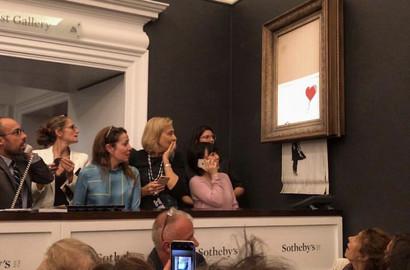Actu ICART - Décryptage : Banksy détruit son oeuvre chez Sotheby's