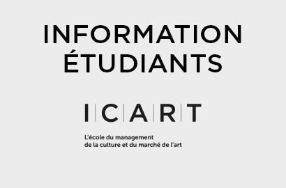 Actu ICART - INFORMATION : Message à l'attention des Étudiants