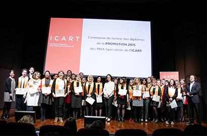 Actu ICART - Cérémonie de remise de diplômes des MBA Spécialisés, Promotion 2015