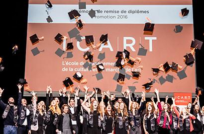 Actu ICART - Emmanuel Macron, Parrain de la promotion 2016 de l'ICART Paris