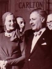Georges Huisman et Michèle Morgan au Festival de Cannes en 1946