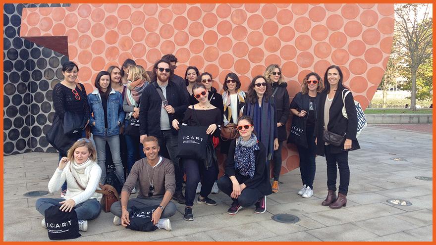 Les Etudiants de l'Ecole des Métiers de la Culture et de l'Art à Bilbao