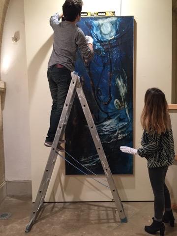 Vernissage de Yahne Le Toumelin, artiste et nonne bouddhiste à l'école ICART