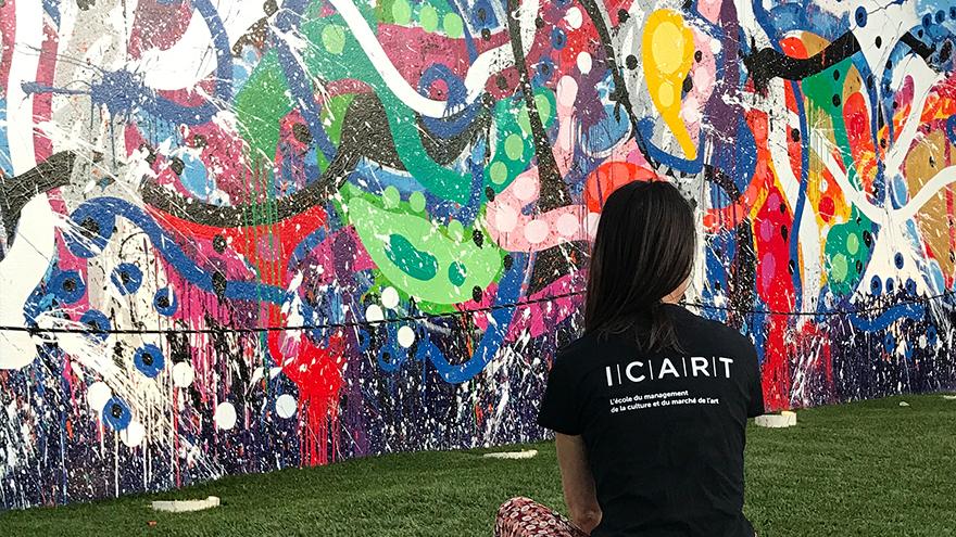 Les étudiants de l'école de médiation culturelle ICART au coeur du Streetart