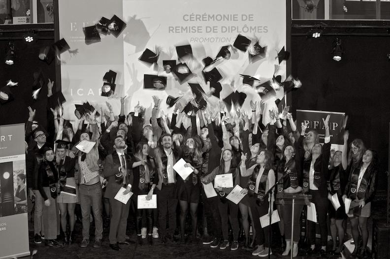 Promotion 2018 du bachelor médiation culturelle de l'ICART Bordeaux
