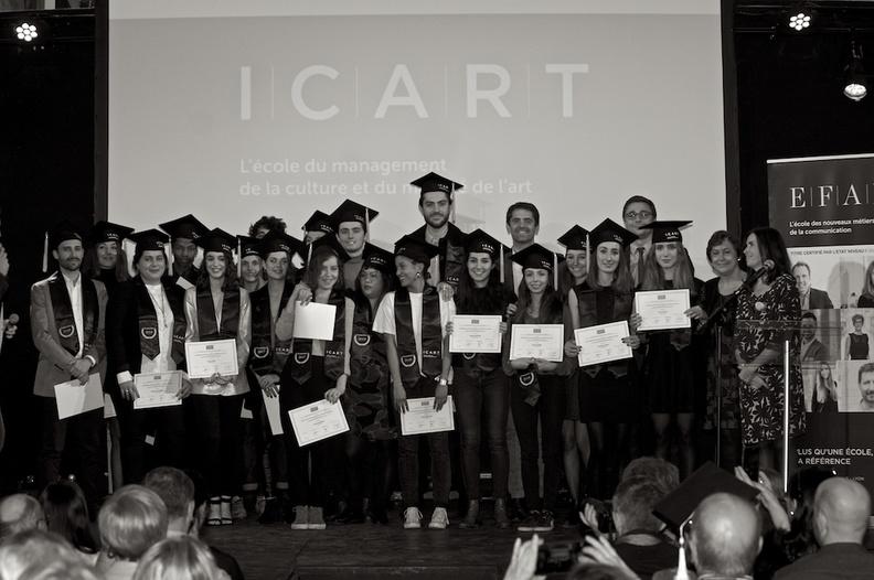 Cérémonie de remise de diplômes à l'ICART Bordeaux, école de management culturel