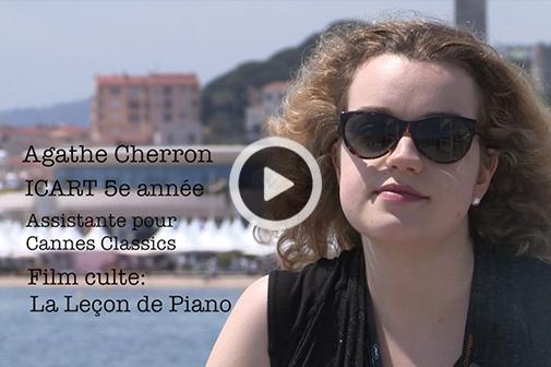 Rencontre avec Agathe Cherron, étudiante en 5e année à l'ICART, en stage en tant qu'Assistante pour Cannes Classics au Festival de Cannes.