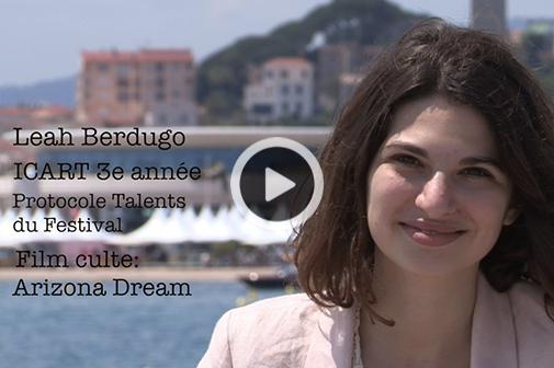 Rencontre avec Leah Berdugo, étudiante en 3e année à l'ICART, en stage auprès du Protocole Talents du Festival de Cannes.